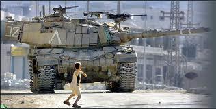 Palestinian child vs Israeli tank