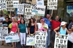 sodastream-protest