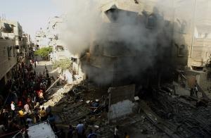 Gaza City, ruins