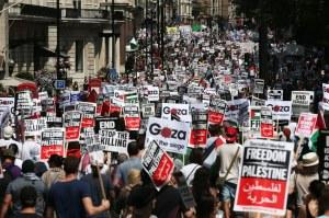 Gaza rally, London